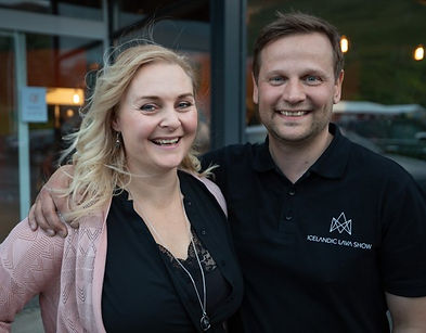 The founders of Icelandic Lava Show - husband and wife - coupe - entrepreneurs