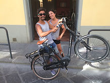 Electric bike rental in florence, happy customers of e-bikes florence. They are https://www.facebook.com/anaspetrocelli and https://www.facebook.com/fpizzichillo?fref=pb&hc_location=friends_tab&pnref=friends.all
