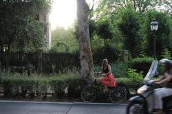 girl on an electric bike