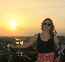electric bike at sunset
