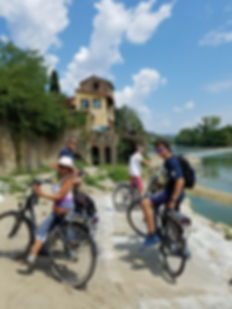 Florence Bike Rental Vineyard Tour cycling in Fiesole, Tuscany