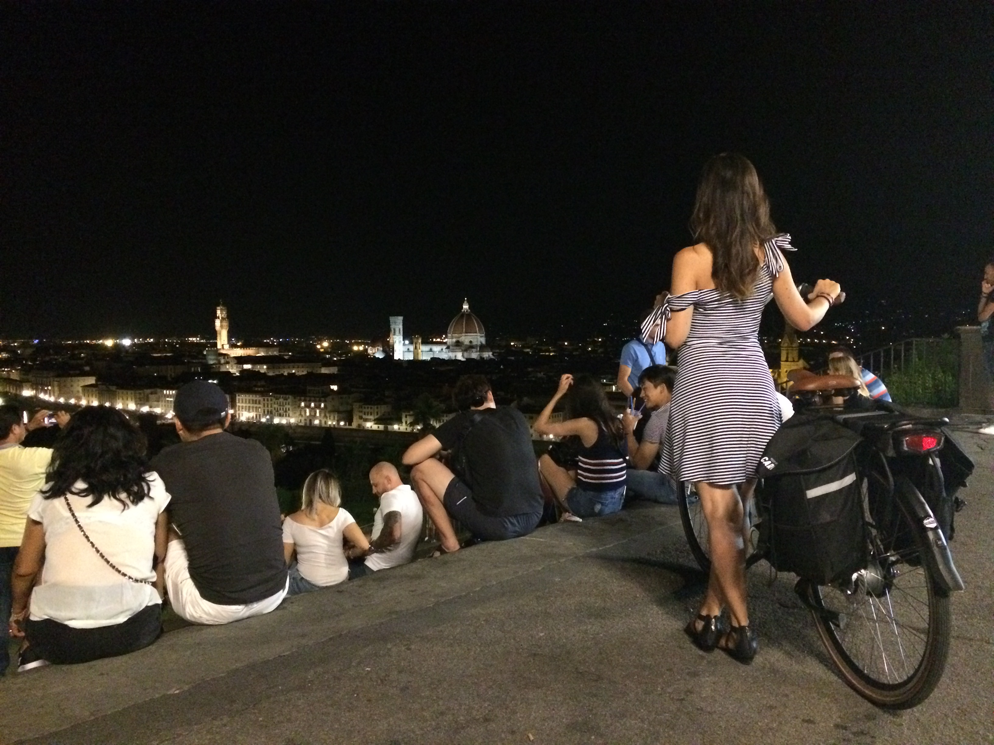 Piazzale Michelangelo at night