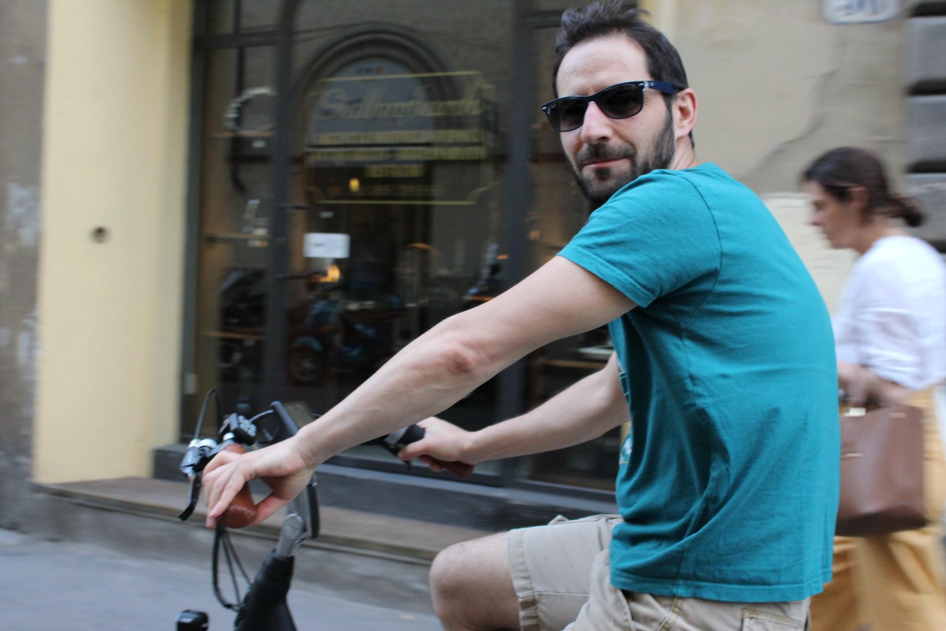 man on an bike