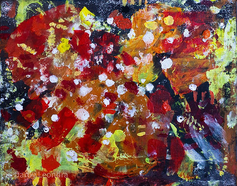 """""""Sunkissed"""" Mixed Media Painting"""
