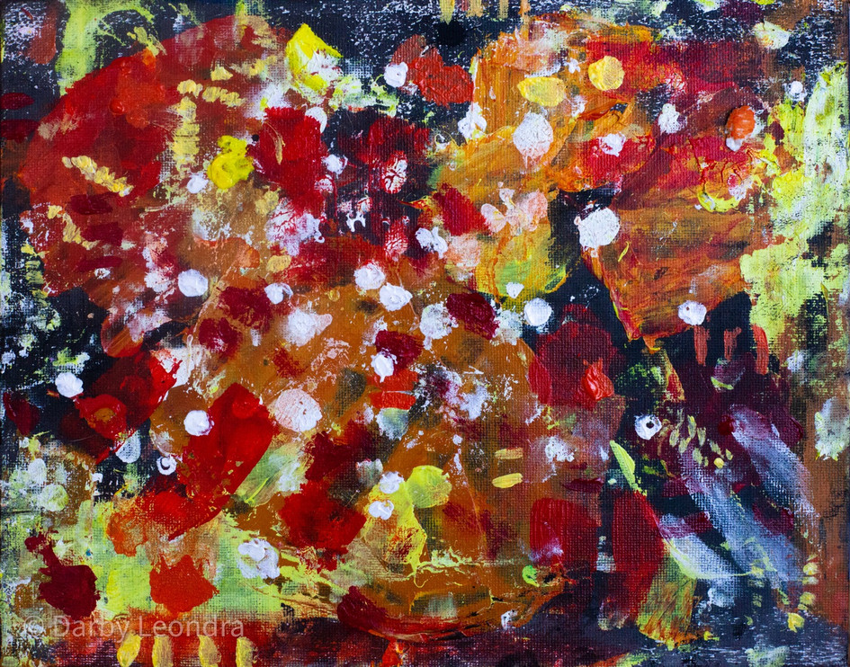 Sunkissed Oil Abstract Painting