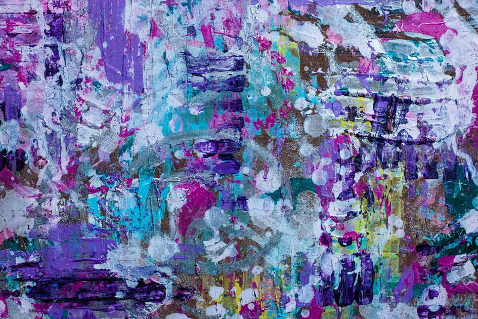 """Detail of Candycaked"" Abstract Painting"