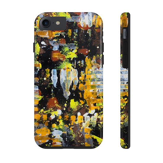 """""""Dripping in Honey"""" Extra Tough Phone Case Yellow"""