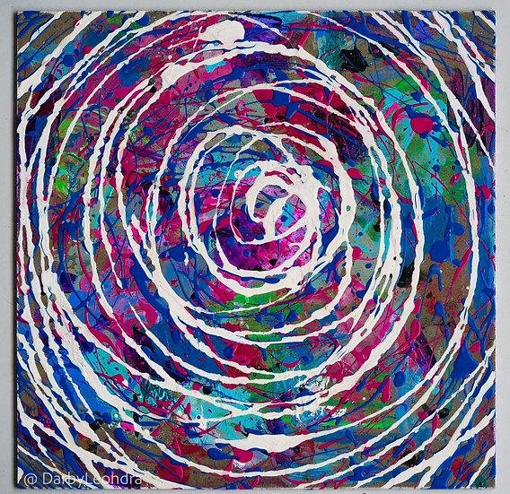 """The Rabbit Hole"" Black Light Painting"