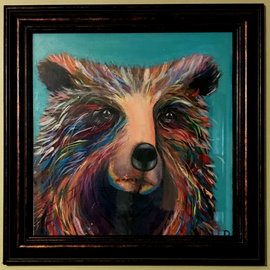 Prideful Bear (framed)