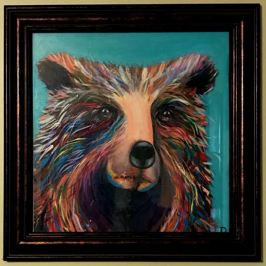 Prideful Bear (framed)