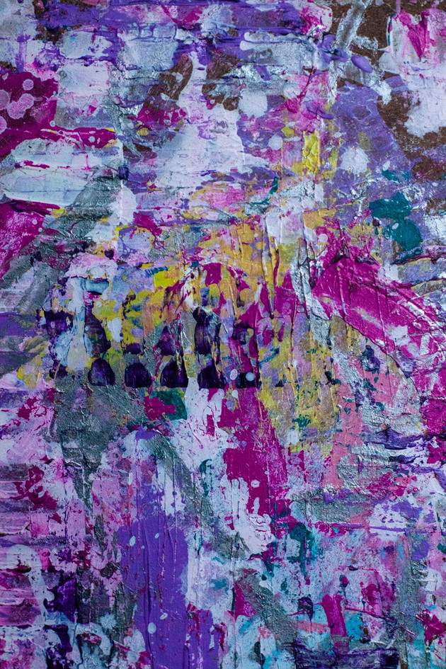 """Detail of """"Candycaked"""" Abstract Painting"""