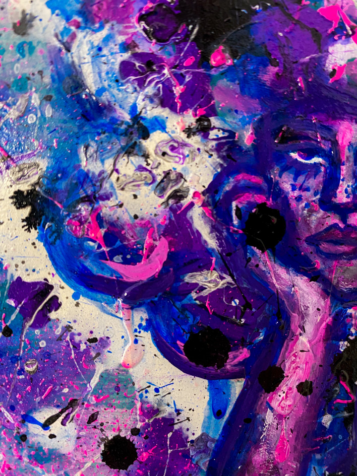 """Detail of """"Lost in the Beat"""""""
