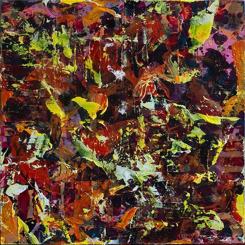 """""""Heat"""" Mixed Media Painting"""