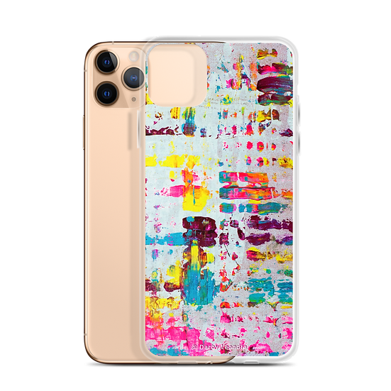 White Rainbow Abstract Phone Case