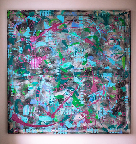 """""""Let it Bubble"""" Original Painting"""