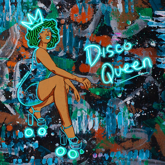 """Disco Queen"" Canvas Print"
