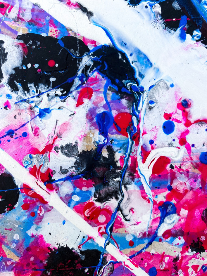 """They"" Abstract Painting Detail Photo"