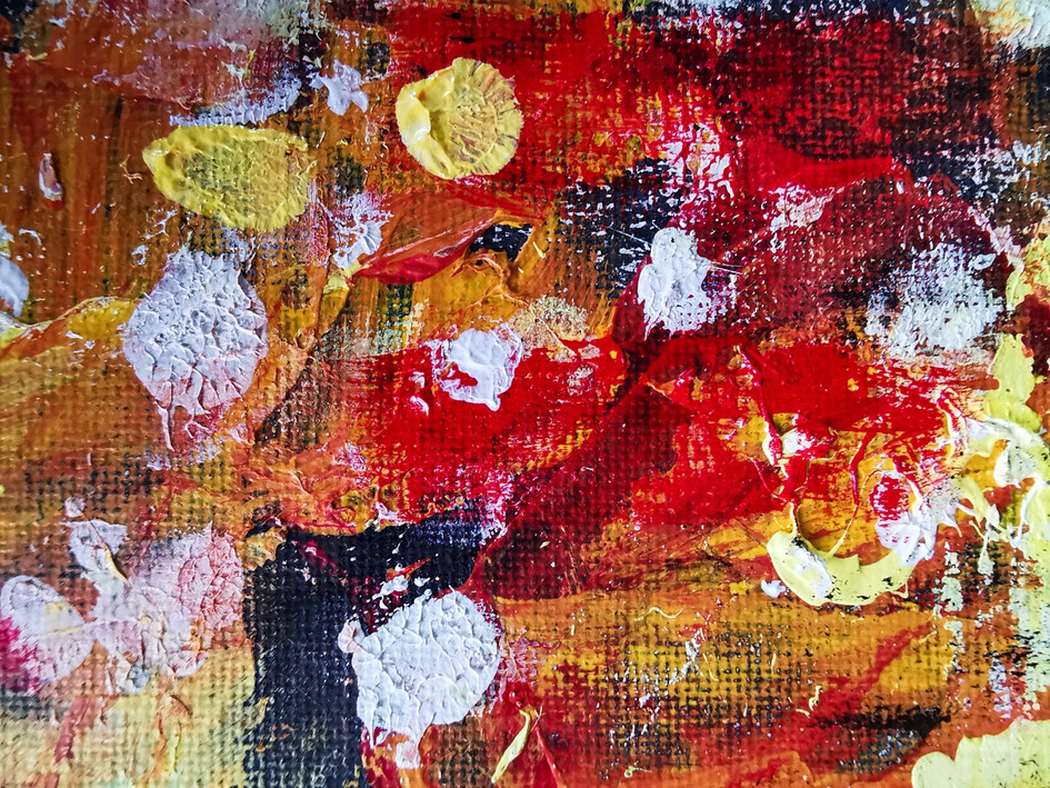 """""""Sunkissed"""" Abstract Painting Detail"""