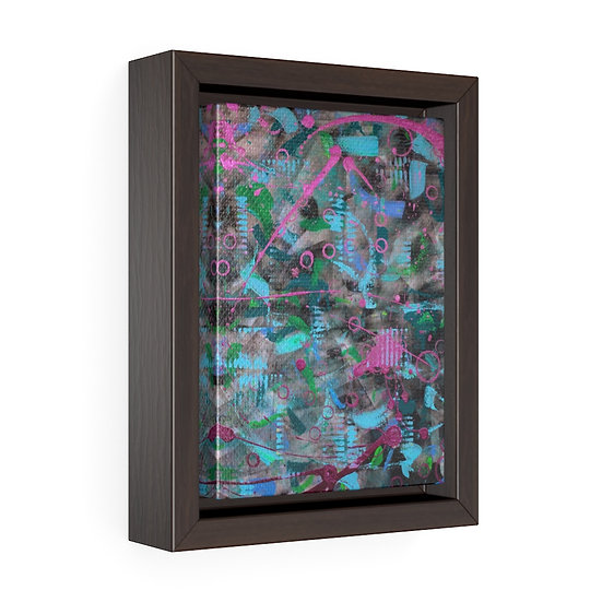 """""""Bubble, Zoomed"""" Framed Gallery Canvas Print"""