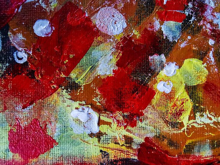 """Spice"" Mixed Media Painting"