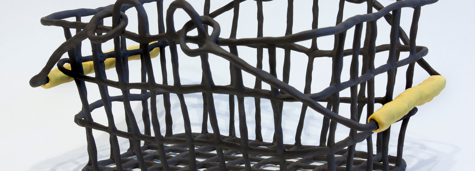 Basket with Yellow Handles