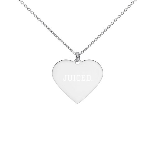 Women's Engraved JUICED. Heart Necklace