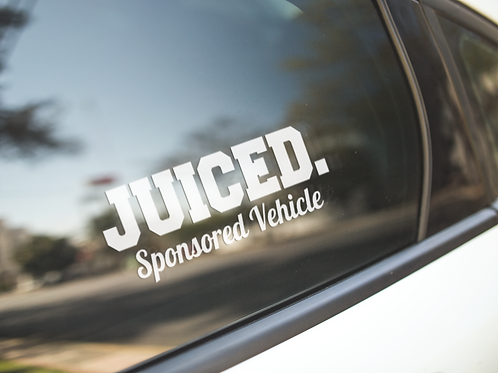 "JUICED. ""Sponsored Vehicle"" Decal"