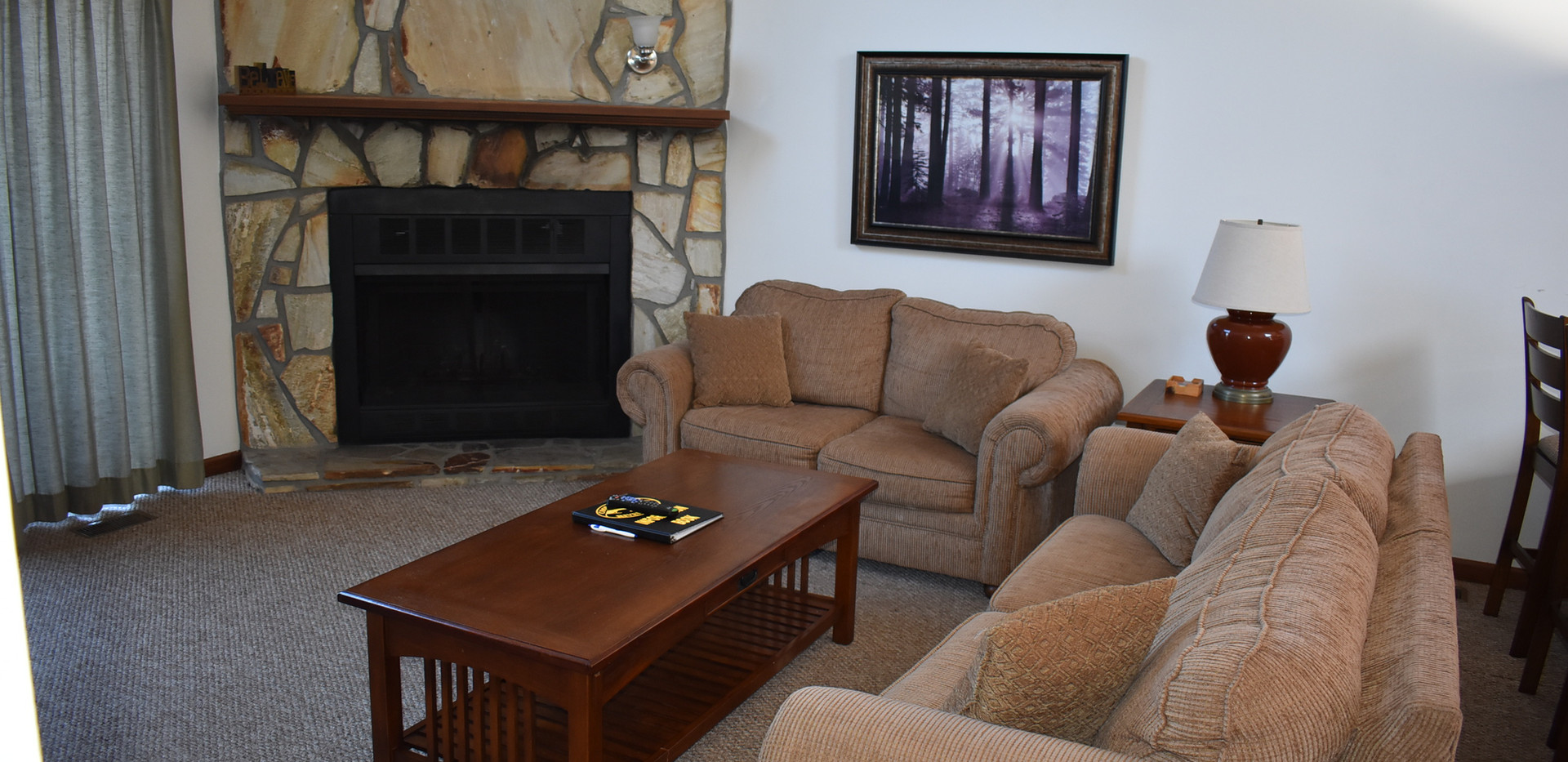Water Tower - 3 BR - Living Room & Fireplace