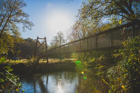 Swinging Bridge at FishTrap Park