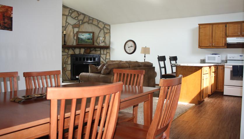 Rec Center Villa dining room
