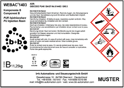 Logistics label with warnings