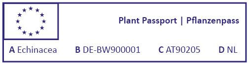 Normal complete plant passport with traceability code