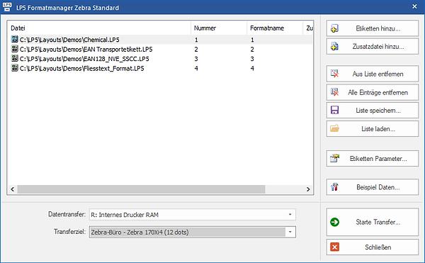 Label software for Zebra Standard
