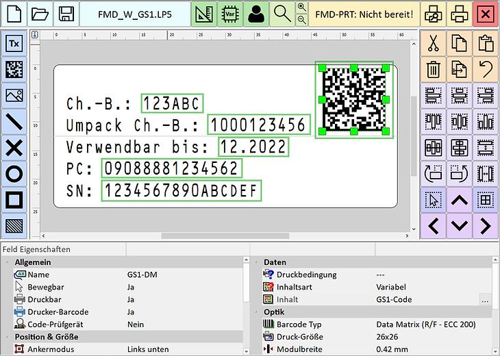 Etikettensoftware - Touch Editor