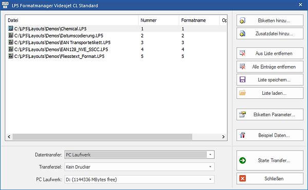 Videojet CL Standard label software