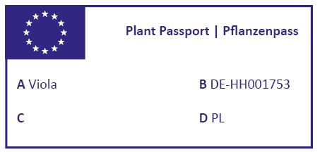 Normal complete plant passport without traceability code