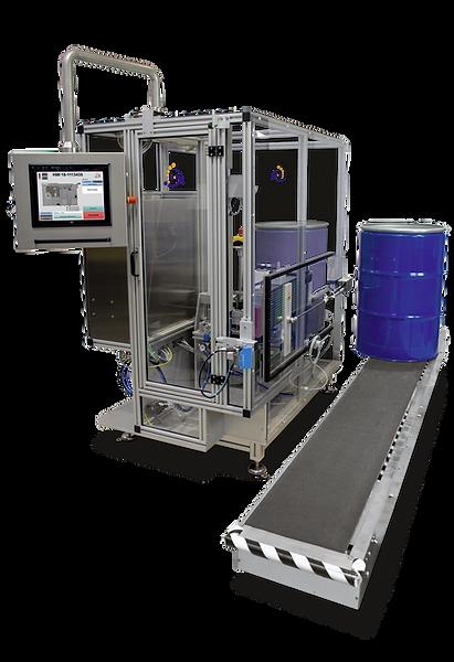 Vollautomatische Etikettiermaschine zur Fassetikettierung
