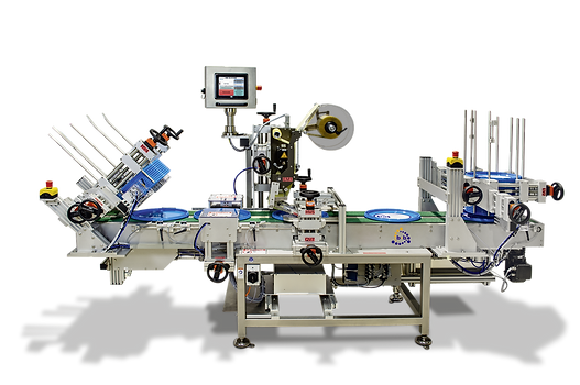 Fully automatic top and bottom labelling