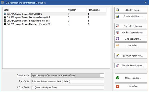 Label Software for Intermec MultiBoot