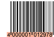 Barcode based on the GTIN