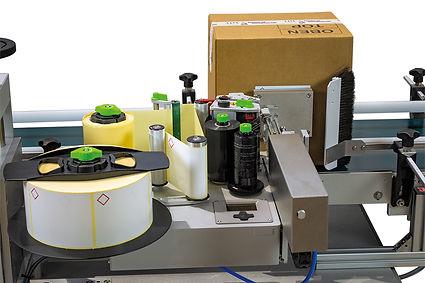 Vollautomatisches Druck und Spendesystem zur Etikettierung von Kartons