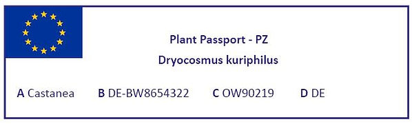 Normal complete plant passport for protected zones