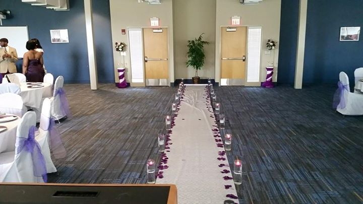 Thank you L'Airnece Mathews for decorating the aisle and beautiful columns!!!