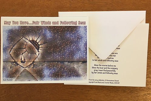 Notecards - Fair Winds and Following Seas