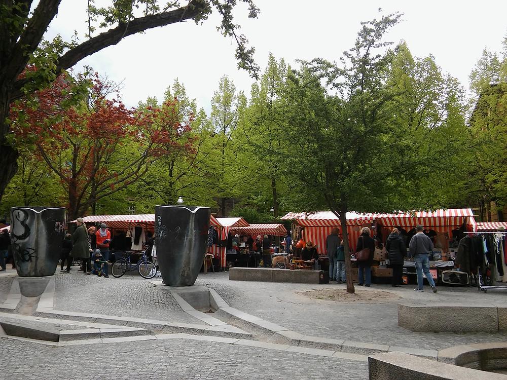 שוק Marheinekeplatz בשכונת קרוייצברג.