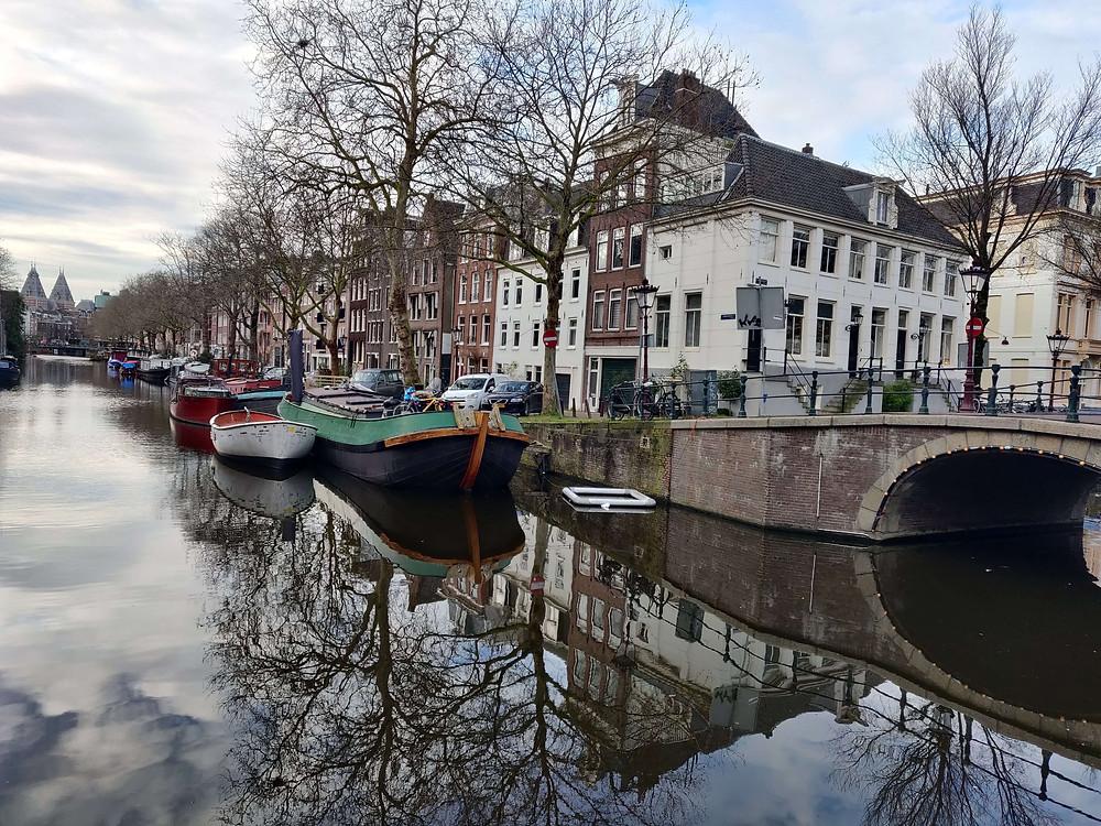 רחוב באמסטרדם בו גרו בעבר יהודים