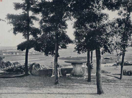 תמונה  ישנה של חצר בית האחוזה