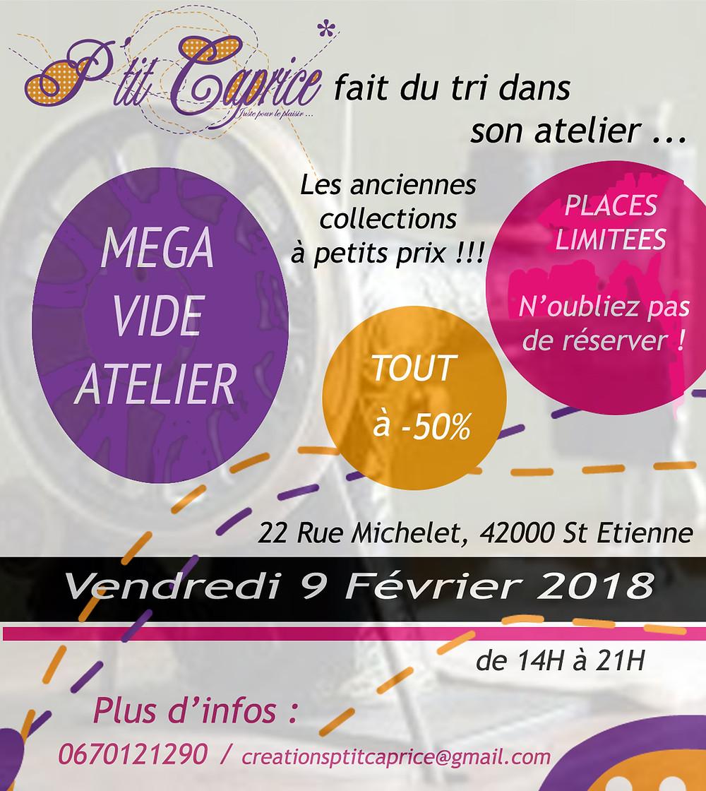 Grand tri chez P'tit Caprice, les anciennes collections à -50% autour d'une après midi créative, directement à l'atelier au 22 Rue Michelet, le Vendredi 9 février de 14h à 21h !!!