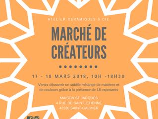St galmier, marché de créateurs 17/18 Mars 2018 10H/18H30