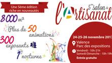 Salon de l'Artisanat de valence du 24 au 26 Novembre 2017